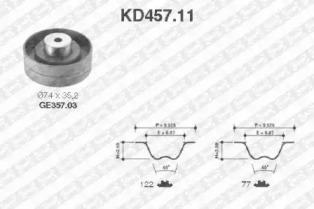 KD45711 SNR Комплект ремня ГРМ