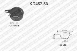 KD45753 SNR Комплект ремня ГРМ