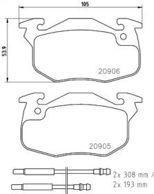 T9029 PAGID Комплект тормозных колодок, дисковый тормоз