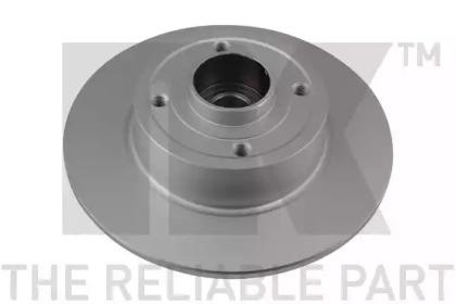 313964 NK (Coated) Диск гальмівний задній (з підшипником) Renault Clio 08-/Megane II/Modus 11.02-