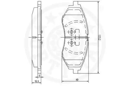 12154 OPTIMAL Комплект тормозных колодок, дисковый тормоз -1