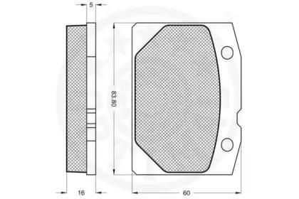 9151 OPTIMAL Комплект тормозных колодок, дисковый тормоз -1