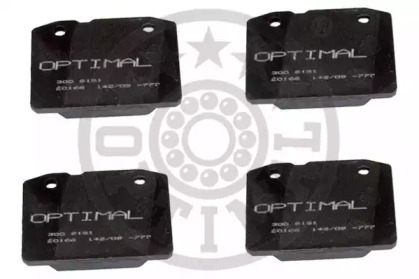 9151 OPTIMAL Комплект тормозных колодок, дисковый тормоз