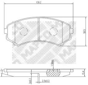6785 MAPCO Комплект тормозных колодок, дисковый тормоз
