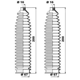 K150223 MOOG Комплект пылника, рулевое управление -3