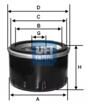 2316800 UFI Масляный фильтр