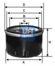 2329800 UFI Масляный фильтр