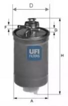 2400300 UFI Топливный фильтр