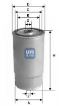 2401200 UFI Топливный фильтр