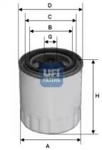 2432100 UFI Топливный фильтр
