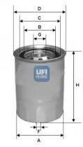 2433900 UFI Топливный фильтр