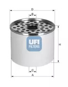 2436100 UFI Топливный фильтр