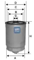 2437800 UFI Топливный фильтр