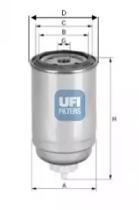 2439900 UFI Топливный фильтр