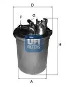 2445100 UFI Топливный фильтр