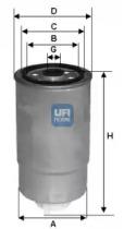 24H2O02 UFI Топливный фильтр