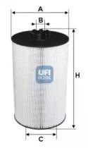 2501900 UFI Масляный фильтр