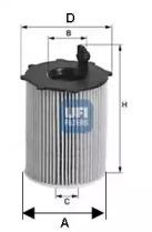 2503700 UFI Масляный фильтр