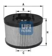2504300 UFI Масляный фильтр