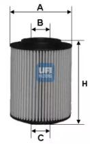 2505400 UFI Масляный фильтр