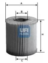 2505800 UFI Масляный фильтр