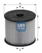 2600300 UFI Топливный фильтр