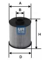 2600600 UFI Топливный фильтр