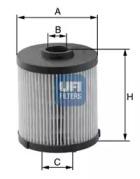 2602000 UFI Топливный фильтр