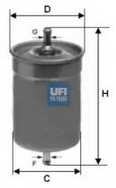 3150000 UFI Топливный фильтр