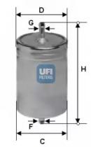 3158300 UFI Топливный фильтр