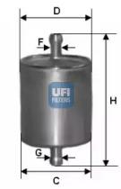 3176000 UFI Топливный фильтр