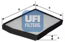5301800 UFI Фильтр, воздух во внутренном пространстве