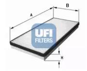 5307500 UFI Фильтр, воздух во внутренном пространстве