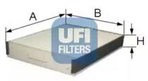 5307700 UFI Фильтр, воздух во внутренном пространстве
