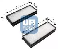 5312100 UFI Фильтр, воздух во внутренном пространстве