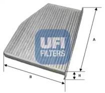 5412400 UFI Фильтр, воздух во внутренном пространстве