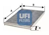 5412800 UFI Фильтр, воздух во внутренном пространстве