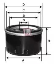 S1710R SOFIMA Фильтр масла