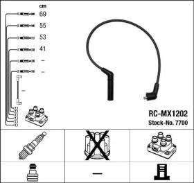 7700 NGK Комплект проводов зажигания