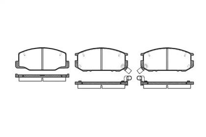 215212 ROADHOUSE Комплект тормозных колодок, дисковый тормоз