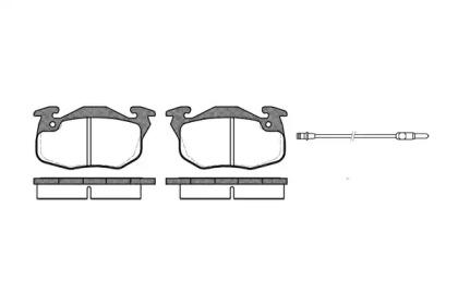 219212 ROADHOUSE Комплект тормозных колодок, дисковый тормоз