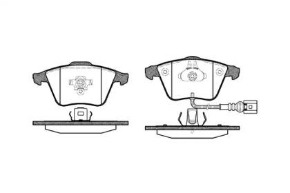 296432 ROADHOUSE Комплект тормозных колодок, дисковый тормоз
