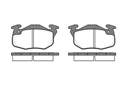 019210 REMSA Комплект тормозных колодок, дисковый тормоз