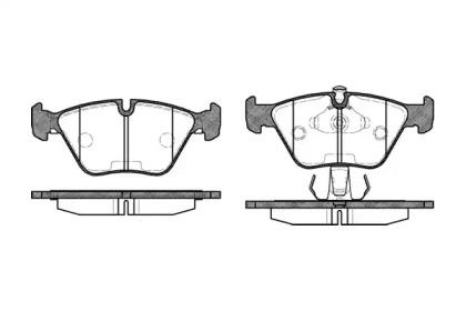 027015 REMSA Гальмівні колодки дискові перед. Bmw X3 Series (E83)/Z Series (E86)/Z Series (E85)/3 Series (E46)/5 Series (E39)