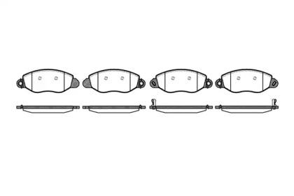 077212 REMSA Гальмівнi колодки дисковi перед. Ford Transit 2.0D 08.00-05.06