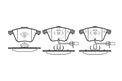 096412 REMSA Гальмівні колодки дискові перед, Audi A4 1.6-3.2FSi/A6 III/A6 Quattro III 4.2 04- /T-5