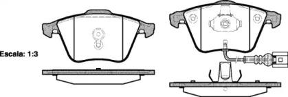 096441 REMSA Комплект тормозных колодок, дисковый тормоз