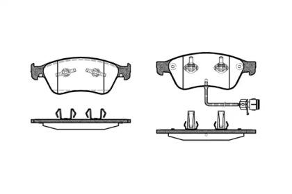105612 REMSA Комплект тормозных колодок, дисковый тормоз