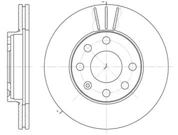 606110 REMSA Тормозной диск