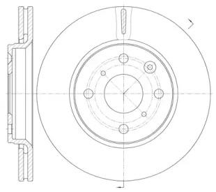 6100310 REMSA Тормозной диск